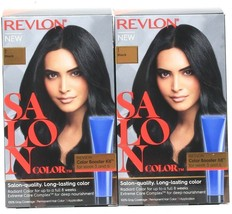 2 Revlon Salon Color 1 Black Booster Kit Luminous Gray Coverage - $24.99
