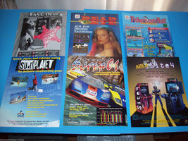 Lot Of (6) ORIGINAL NOS VIDEO ARCADE GAME FLYERS FAST DRAW SUPER GT set  #7 - $13.36