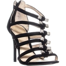 Coach Laila Heeled Sandals, Black, 6.5 US - $108.47