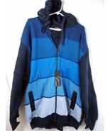 Urban Environmental Management GodBody Hoodie Athletic Jacket Blue Mens ... - $39.59