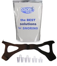 Stop Snoring Aids: Two Anti-Snore Solutions Nose Dilator Chin Straps Sno... - $14.47