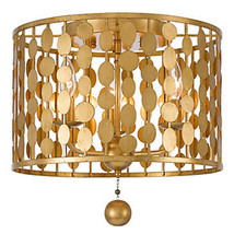 Z Gallerie Bardot Chandelier Ceiling Mount Antique Gold or Silver Circles - $488.13