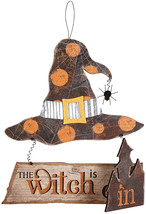 C&F Home Witch Is In/Out Wall Plaque L - $67.45