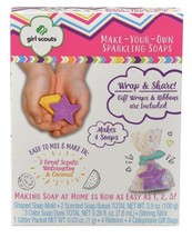 GIRL SCOUTS* 16pc Set MAKE YOUR OWN SPARKLING SOAPS Makes 4 SCENTED Arts... - $14.84