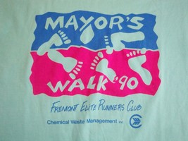 Vintage Mayor's Walk 1990 90's Fremont Runners Club Marathon Fun Run T Shirt M - $19.79