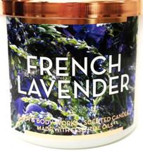 Bath & Body Works Französischer Lavendel 3 Docht Matt Glas Kerze & Kupfe... - $31.14