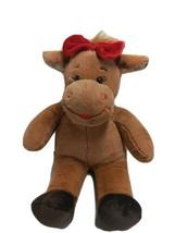 Build a Bear Moose Plush Girl Bow Lipstick Kiss 15 inches - $19.59
