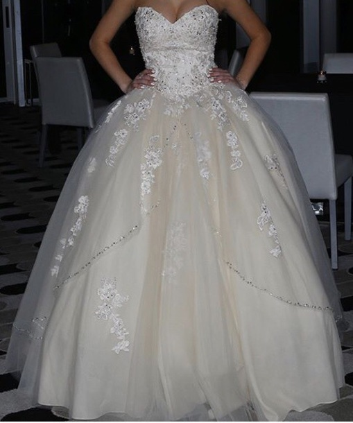 Strapless Wedding Dress Ball Bridal Gowns White Long Formal Dress,HH066