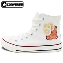 Lemon Steak Food Design Canvas Shoes Sneakers Men Women Converse All Star - $119.00