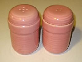 """Salt & Pepper Shakers Rose Pink Porcelain 4"""" - $9.85"""