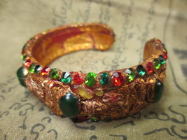 Magic Blessed Old Wangna Bracelet with Gems Lucky and Charm Thai Amulets Ama073 - $25.00