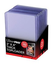 "Ultra Pro 3"" X 4"" Super Thick 100PT Toploader 25ct - $6.31"