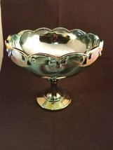 Iridescent Carnival Glass 2892 Garland Bowl by Indiana Glass Co With Box - $22.35