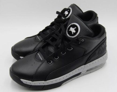 57199b8b0cd Jordan Ol School Low Mens 317765-011 Black Silver Basketball Shoes ...