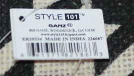 GANZ Brand Style 101 ER39334 Large Burlap Black Cream Purse Pink Handle image 6