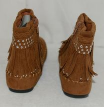I Love Yo Kids AVA 78K Girls Fringe Boot Rust Silver Studded Size 4 image 4