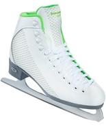 Riedell 2015 Figure Skates Model 113 Sparkle White/Lime Size 6 Med - $69.99