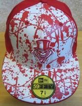 NEW ERA 59Fifty New Orleans Voodoo Hat AFL Red Skull Bones Arena Footbal... - $44.47