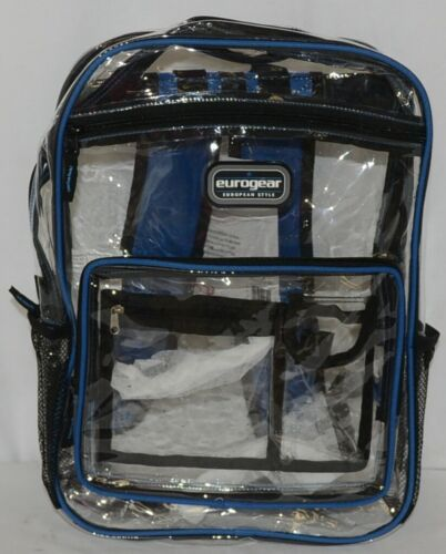 Shalam Imports Brand Eurogear Extreme Adventure Clear Backpack Blue