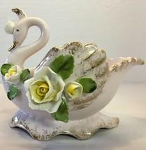 Lefton Swan Trinket Dish Bowl Lot of 3 Swans Porcelain China Vintage 195... - $39.59