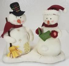 Hallmark Snowmen Jingle Pals Animated Singing Couple Carolers  - $29.99
