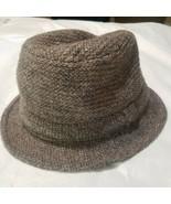 Pendleton Vintage Bucket Fedora Tweed Hat England Size M Medium Grey Bro... - $23.21