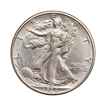 1936 D Walking Liberty Half Dollar - Gem BU / MS / UNC - $89.00