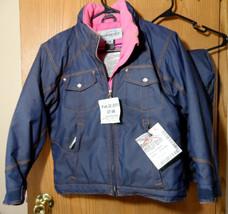 OBERMEYER Snow Suit Juniors 12/14 Denim Blue Ski Jacket Pants insulated ... - $148.49