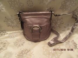 B Makowsky Pewter Pebble Leather Westbourne Conver Crossbody Bag Bnwt Retired