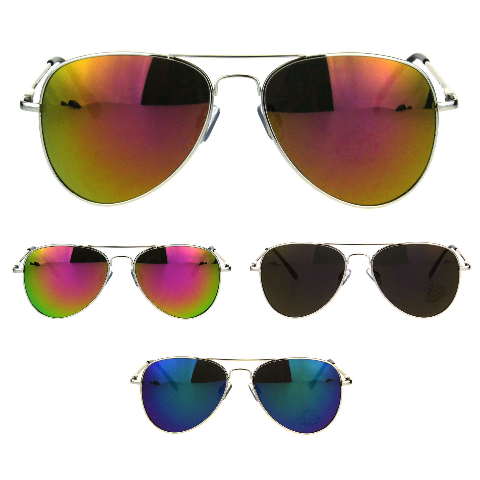 4fc60e5e0134 Officer Style Colored Mirror Lens Metal Rim and 50 similar items. S l1600