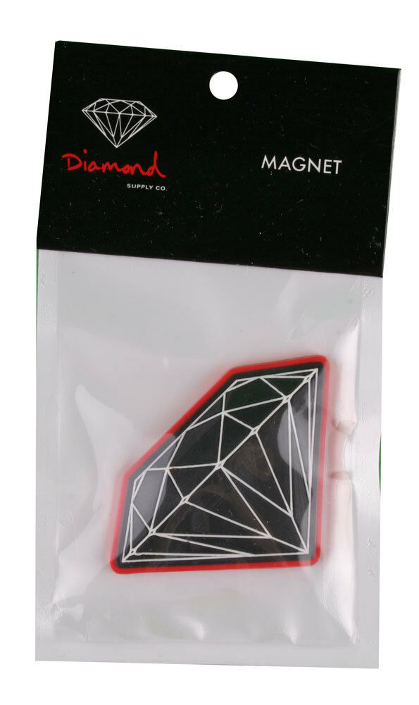 Diamond Supply Co Black Red Brilliant Refrigerator Fridge Magnet NIP