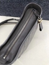 AUTHENTIC CHANEL Gray Quilted Calfskin Medium Gabrielle Hobo Bag  image 6