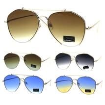Womens Luxury Designer Crop Bottom Metal Rim Boyfriend Style Sunglasses - $17.07 CAD