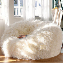 Large Fur Beanbag Bean Bag Cover Soft Lounge Chair Living Room - Without... - $99.99+