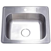 Gourmetier Studio GKTS252281 Self Rimming Single Bowl Sink, Satin Nickel  - $77.17