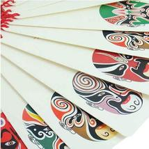 Set of 12 Beautiful Creative Beijing Opera Make-up Bookmarks with Chinese Knot