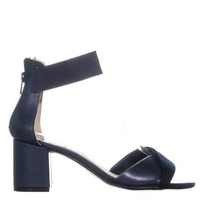 White Mountain Evie Criss Crossed Ankle Strap Sandals 454, Navy, 6 US image 5