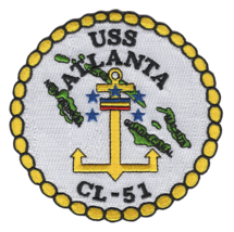 """NAVY USS ATLANTA CL-51 4.5"""" EMBROIDERED MILITARY PATCH - $17.14"""