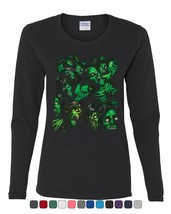 Zombie Pile Women's Long Sleeve Tee Undead Rising Zombie Apocalypse Outb... - $14.15+
