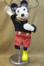 Vintage 1952 Disney Mickey Mouse Wooden Marionette Puppet, Missing 1 Shoe - $49.99