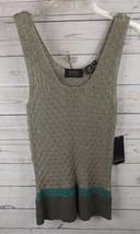 New Dana Buchman Crochet Knit Top Medium Green - $28.49