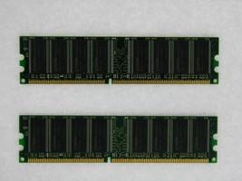 2GB 2X1GB DDR PC3200 2GB PC3200 400 LOW DENSITY DESKTOP MEMORY RAM **Tested**