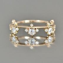 Fashion Simple Thin Rings 18K Gold Filled White Topaz Cz Diamonds Cubic ... - $25.99