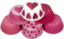 Be Mine Valentine's Day Hearts 150 ct Baking Cups Cupcake Liners Wilton - $7.91