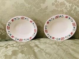 Vintage Wedgwood Queen's Ware Wild Poppy Pattern Serving Bowls - $44.55