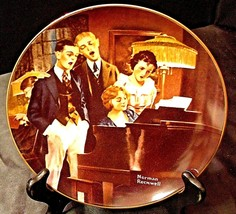"1984 ""Close Harmony"" by Norman Rockwell Plate with Box ( Knowles ) AA20-CP2186 V"