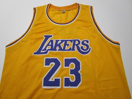 LEBRON JAMES / AUTOGRAPHED LOS ANGELES LAKERS CUSTOM BASKETBALL JERSEY / COA image 2