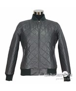 hombre chaqueta de cuero Club Monaco Polo Canalé Bomber Estilo Acolchado... - $207.53+