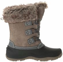 NEW WOMENS GREY KHOMBU SLOPE THERMOLITE ALL WEATHER TERRAIN WINTER SNOW BOOTS image 4