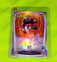NFL JEROME SMITH AUTOGRAPHED 2014 BOWMAN CHROME ROOKIE REFRACTOR MINT - $2.69